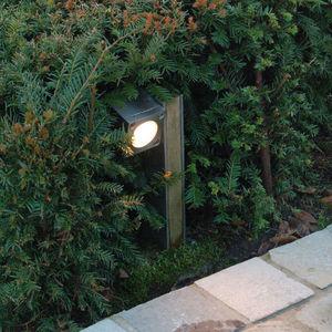 lampioncino da giardino / moderno / in acciaio inossidabile / in legno