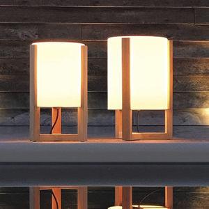 lampada da pavimento / moderna / in vetro / in teak