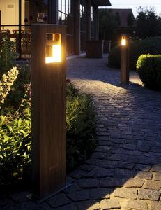 lampioncino da giardino / moderno / in legno / LED