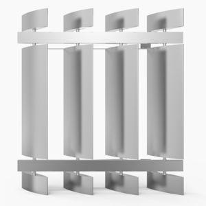 frangisole in alluminio / per facciata / per finestra / verticale