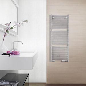 scaldasalviette ad acqua calda / elettrico / cromato / moderno