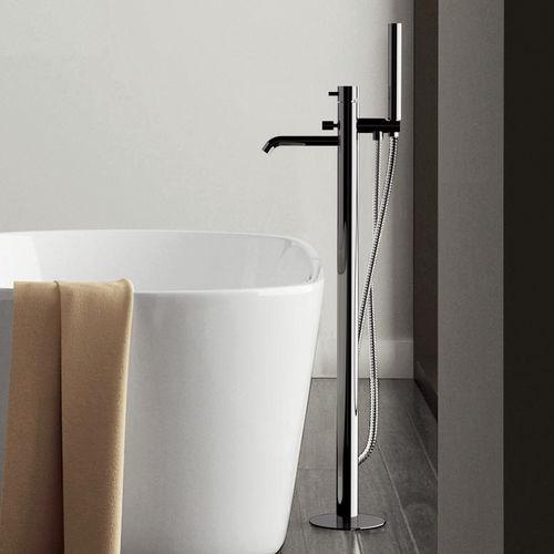 miscelatore da vasca / a pavimento / in ottone cromato / da bagno