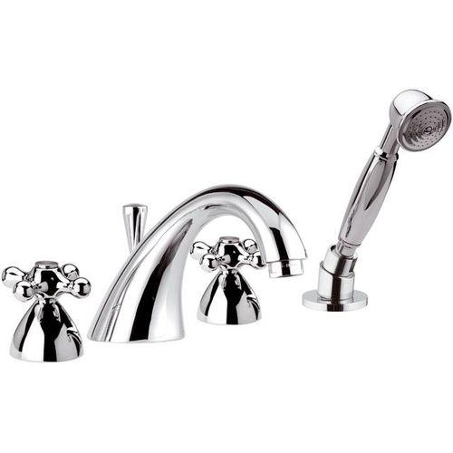 miscelatore doppio comando per vasca / da appoggio / in metallo cromato / da bagno