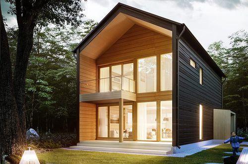 casa modulare / moderna / in legno / ecologica