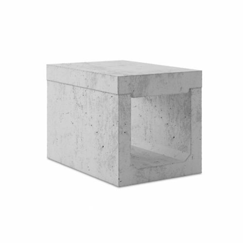 canaletta in calcestruzzo / con griglie / per spazio pubblico / di protezione