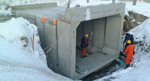 canale di scolo in cemento armato