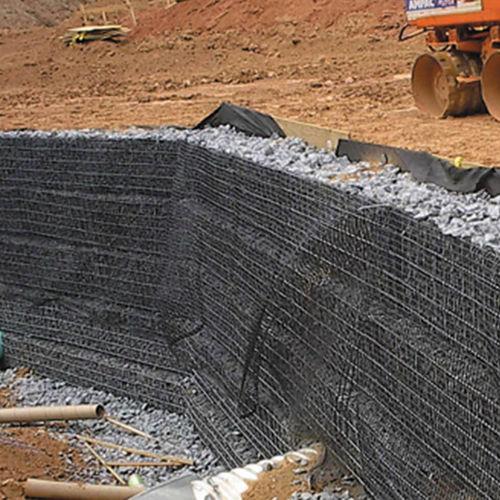 maglia metallica per muro di contenimento