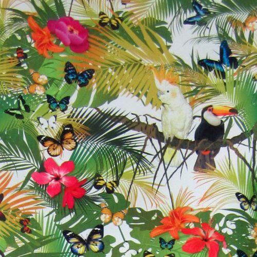 tessuto da tappezzeria / con motivi naturali / con animali / a fiori