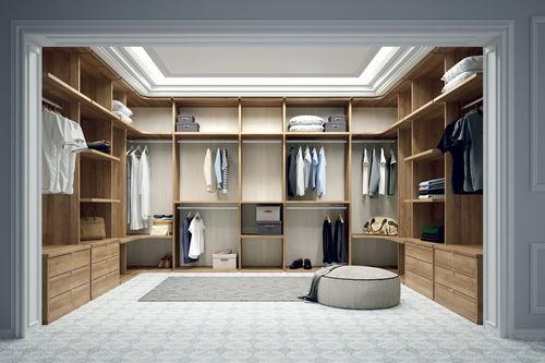 cabina armadio ad angolo / moderna / in legno
