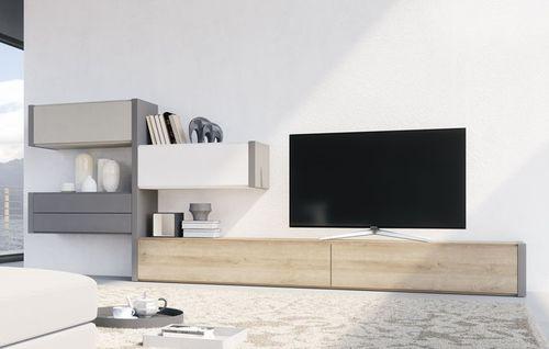 parete attrezzata TV moderno / in legno