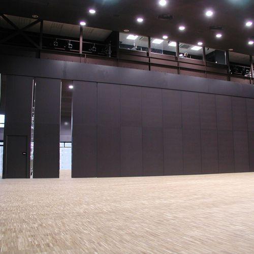 parete scorrevole impilabile / in laminato / ad uso professionale / acustica