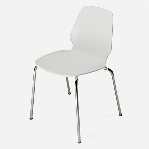 sedia moderna / con rotelle / impilabile / 100% riciclabile