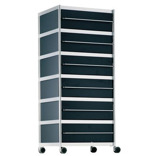 cassettiera per ufficio in metallo / 3 cassetti / 5 cassetti / con rotelle