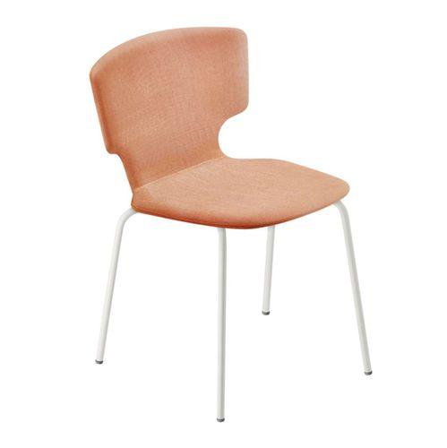 sedia moderna / con rotelle / con rivestimento rimovibile / girevole