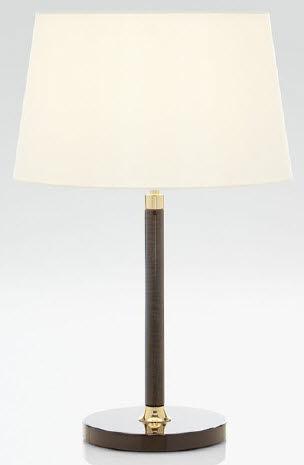 lampada da tavolo / classica / in tessuto / in pelle