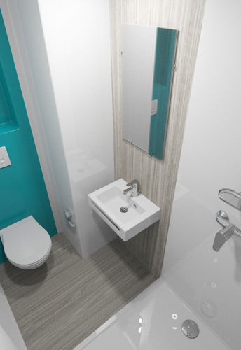 bagno moderno / in poliestere / contract / prefabbricato