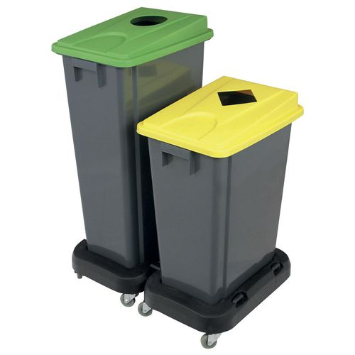 pattumiera contenitore / in plastica / per raccolta differenziata / moderna