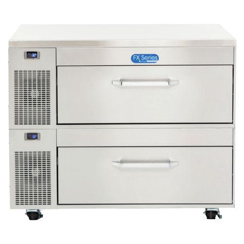frigorifero combinato con congelatore incorporato / professionale / a cassetti / in acciaio inox