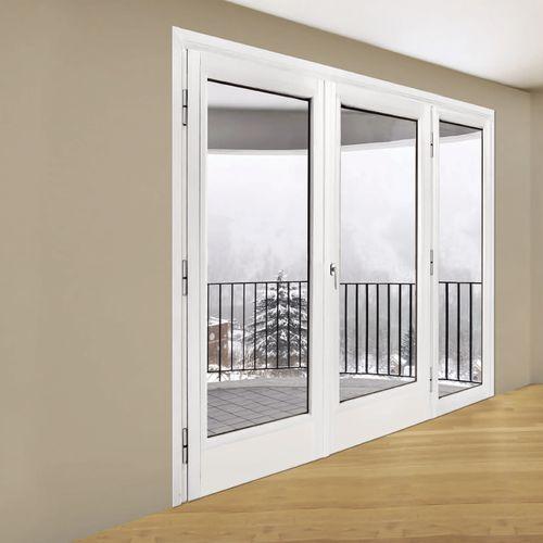 porta finestra battente / in acciaio / a doppi vetri / di sicurezza