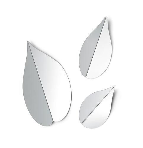 specchio a muro / design originale / in metallo