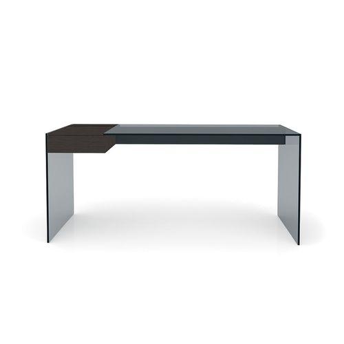 scrivania in frassino / in alluminio / in acciaio inox / in vetro