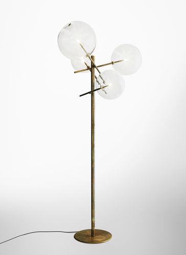 lampada da terra / moderna / in vetro / in ottone