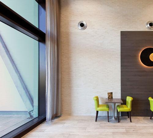 paramento in mattoni in ceramica / per facciata / indoor / a rilievo