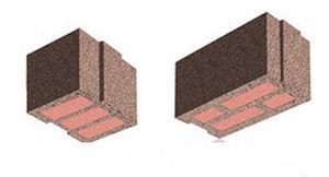 blocco di calcestruzzo leggero / per muro divisorio / con isolamento integrato