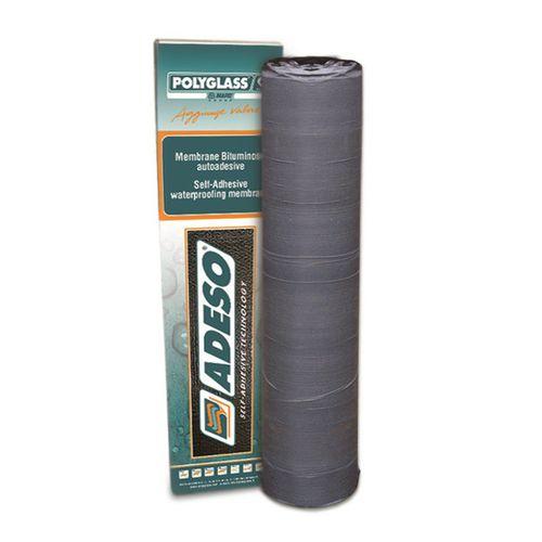 membrana impermeabilizzante per tetti / in rotoli / autoadesiva / con barriera al vapore
