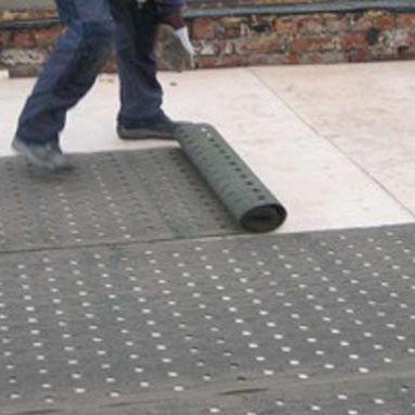 membrana impermeabilizzante per tetti / in rotoli / fibrata / bituminosa