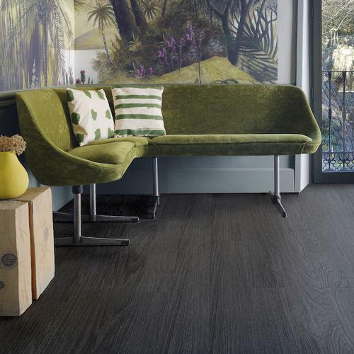 pavimento laminato in HDF / da incollare / aspetto legno / per uso residenziale