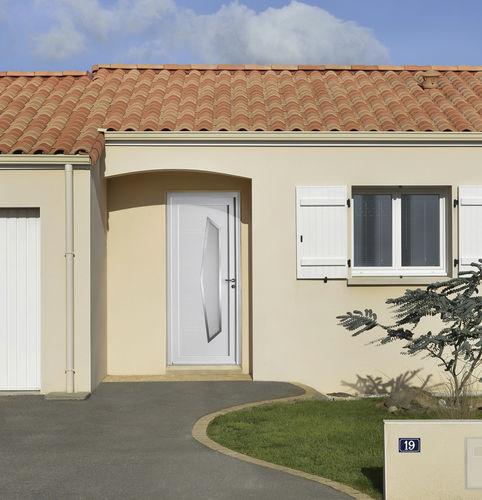 porta d'ingresso / battente / in PVC / a taglio termico