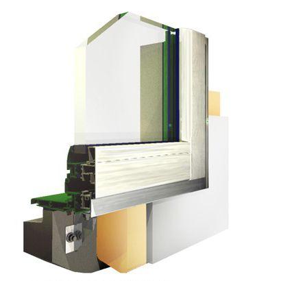 profilato per finestra in alluminio / a isolamento termico