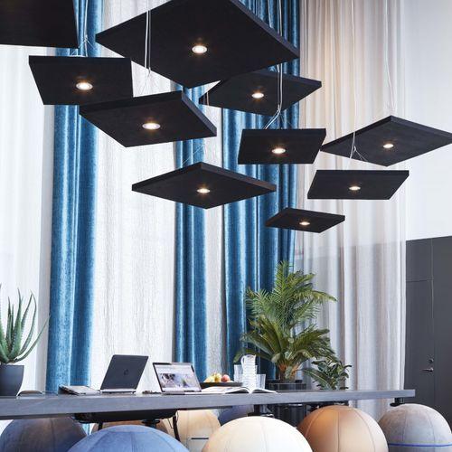 pannello acustico per soffitto / in tessuto / design / per ufficio