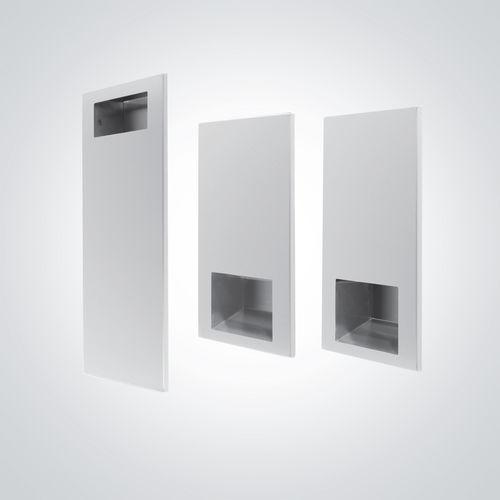 asciugamani elettrico automatico / da parete / in acciaio inox / con distributore di carta