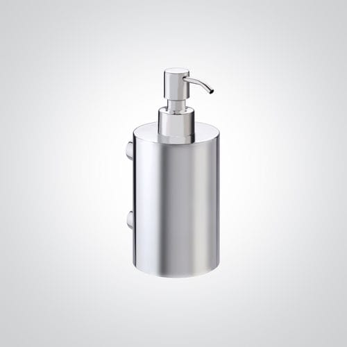 distributore di sapone contract / da parete / in acciaio inox / manuale