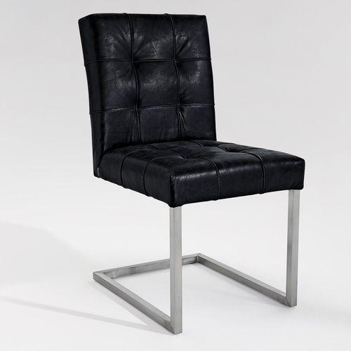 sedia da pranzo moderna / imbottita / con braccioli / cantilever