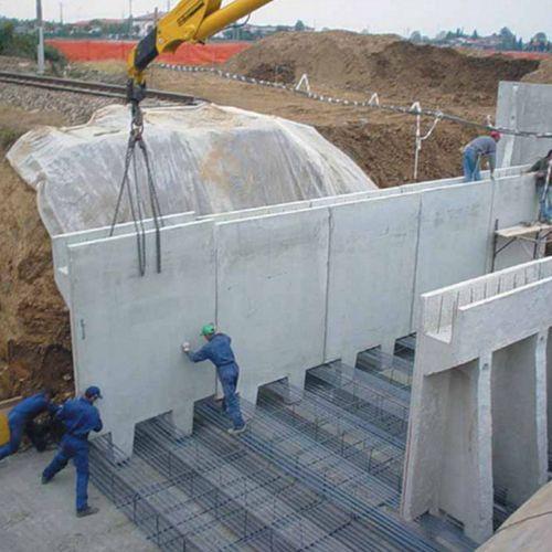 spalla da ponte in cemento armato