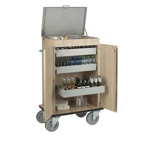 carrello per bibite / per hotel / in legno