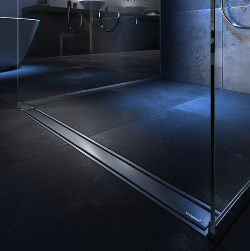 canaletta per doccia in acciaio inox