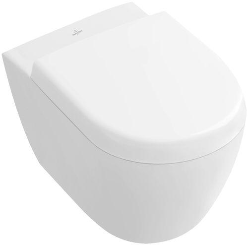 WC sospeso / in porcellana / con sciacquone ad incastro