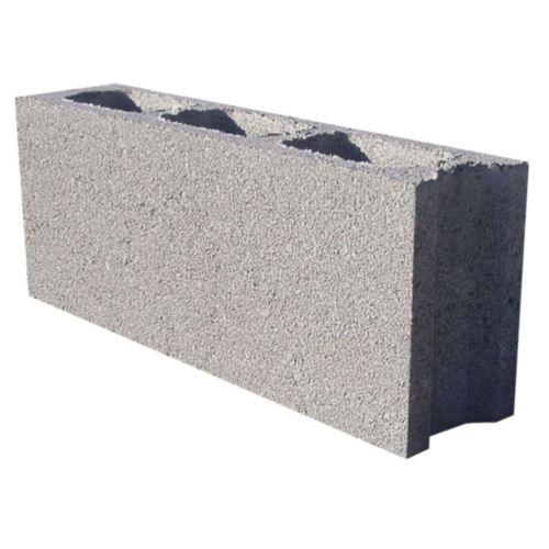 blocco di calcestruzzo forato / leggero / per muro / facciavista