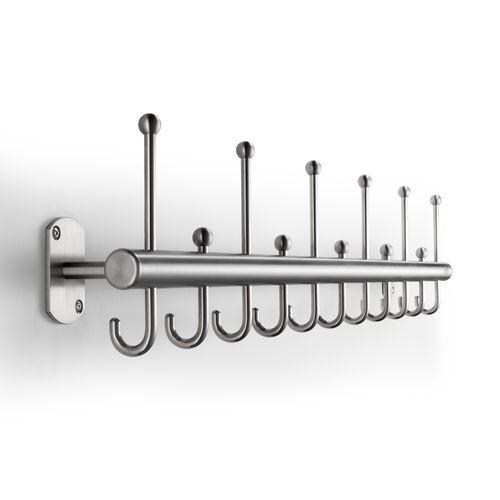 appendiabiti a muro / moderno / in acciaio inossidabile / contract