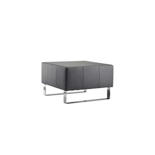 tavolo d'appoggio moderno / in pelle / quadrato / contract