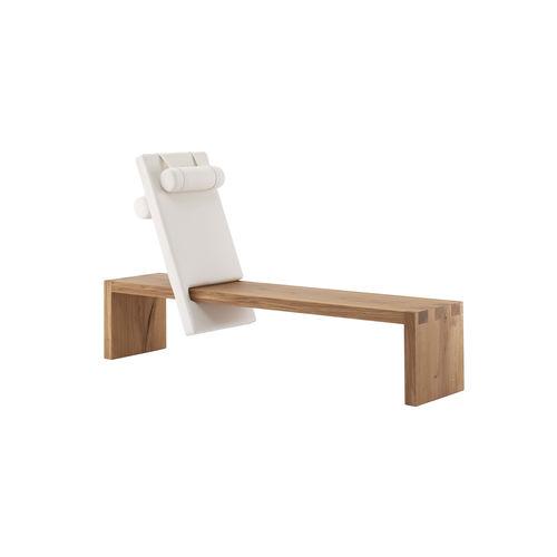 panca moderna / in quercia / con schienale