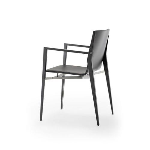 poltrona moderna / in legno / in acciaio inossidabile / contract