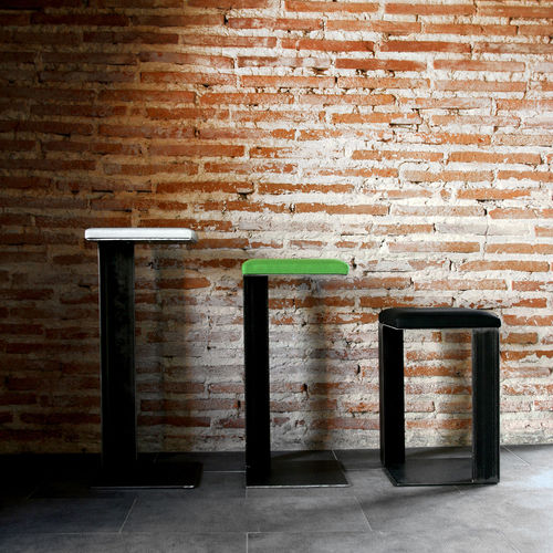 sgabello moderno / in tessuto / in acciaio / contract
