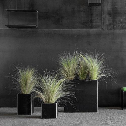 vaso da giardino in acciaio / rettangolare