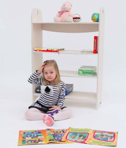 scaffale moderno / in betulla / per scuola materna / per bambini