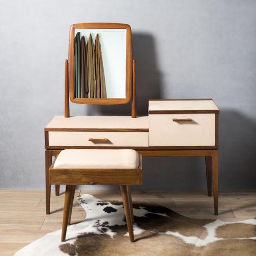 mobile da toeletta classico / in legno / in pelle / per parrucchiere